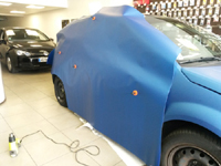 Total covering car wrapping wrap bleu mat metallic blue mat 3M Citroen C2
