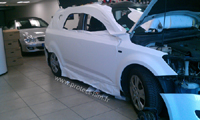 Total covering car wrapping wrap blanc mat white mat 3M Oracal kia ceed sw