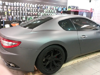 Total covering car wrapping wrap gris mat metallic gray mat Avery Maserati Gran Turismo
