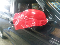 Total covering car wrapping rouge carmine carmin red Avery 3M Kia soul