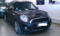 Total covering car wrapping wrap black mat 3M Oracal mini clubman cooper